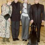 Владимир Путин, президент Австрии Томас Клестил и собака Кони